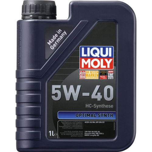 Моторное масло Liqui Moly Optimal Synth 5W-40, 1л (3925)